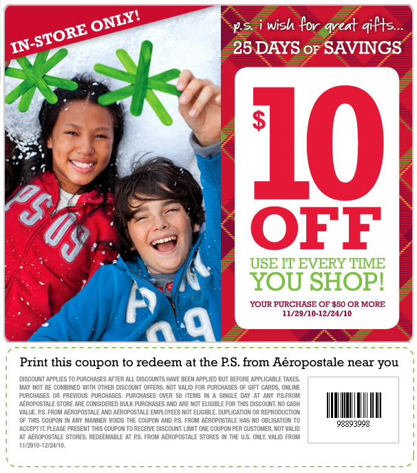 ps from aeropostale coupons